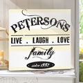 Live, Laugh & Love... Personalized Canvas