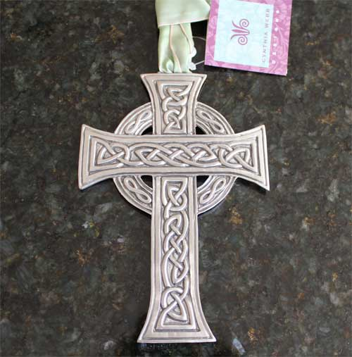 Celtic Cross Wall Ornament by Cynthia Webb
