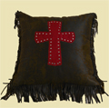 Cheyenne Cross Pillow - Red