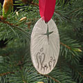 Nativity Pewter Ornament