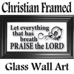 Christian Framed Glass Wall Art