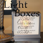 Inspirational Light Boxes & Inserts