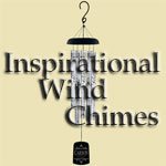 Inspirational wind chimes with scripture, songs and sentiments