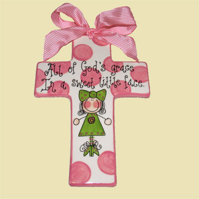 Personalized Pink Cross