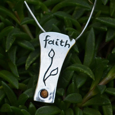Mustard Seed Faith Sterling Silver Necklace