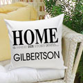 Home is Where... Personalized Pillow