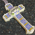 Confirmation Ceramic Wall Cross - Pink/Lavender Mini-Thumbnail