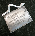 """The Lord Bless You"" Pewter Wall Ornament by Cynthia Webb"