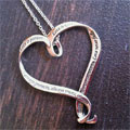 Heart Necklace - 1 Corinthians 13.. Love is...