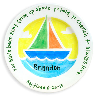 Personalized Plate - Boat