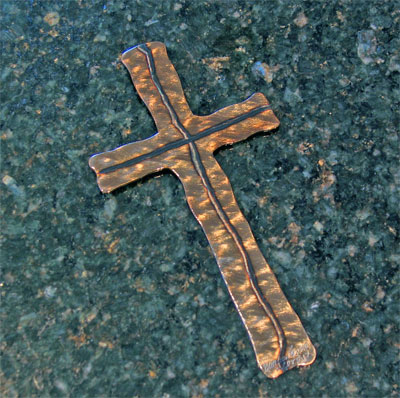 "Narrow Steel 8"" Cross"