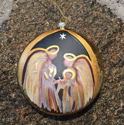 A Christmas Blessing Disk Ornament - The Nativity