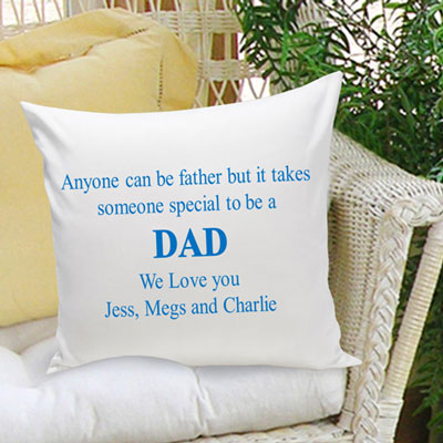Anyone Can be a Father... Personalized Pillow