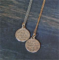 Sterling Silver Small Scripture Medallion - Psalm 119:105