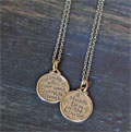 Sterling Silver Small Scripture Medallion - Psalm 119:89