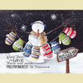 Light Box Personalized Insert - Flurry Snowman