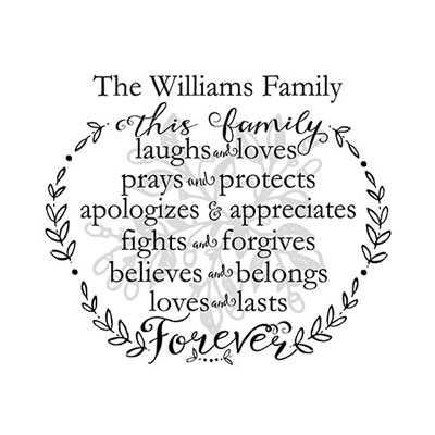 Light Box Personalized Insert - This Family