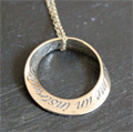 St Francis Prayer Mobius Necklace