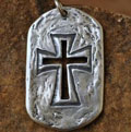 My Strong Tower… Sterling Silver Christian Necklace for Men Mini-Thumbnail