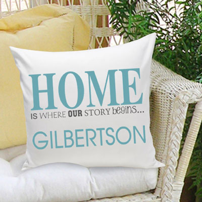 Our Story Begins... Personalized Pillow