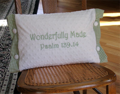 'Wonderfully Made' Pillow for Child