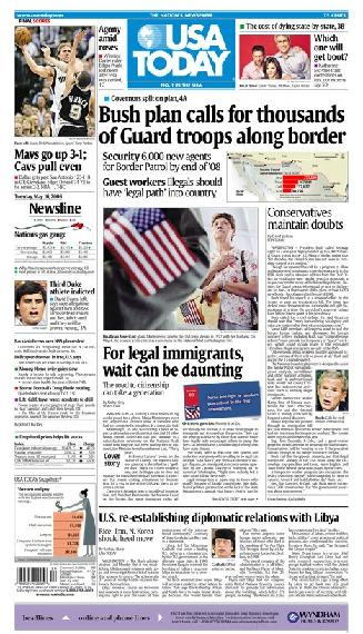 05/16/2006 Issue of USA TODAY