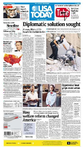 07/18/2006 Issue of USA TODAY