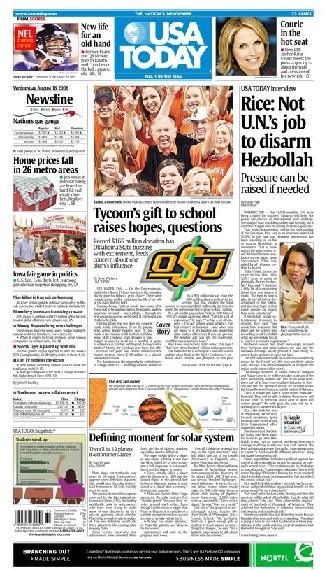 08/16/2006 Issue of USA TODAY