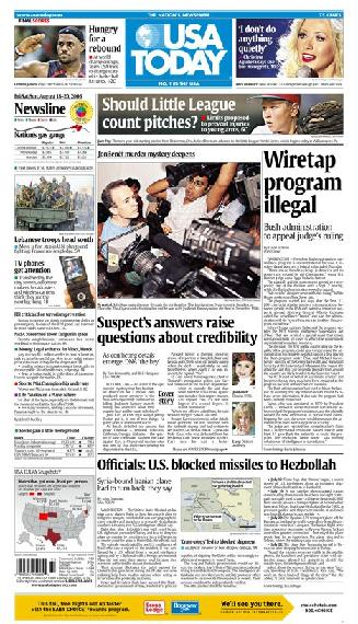 08/18/2006 Issue of USA TODAY