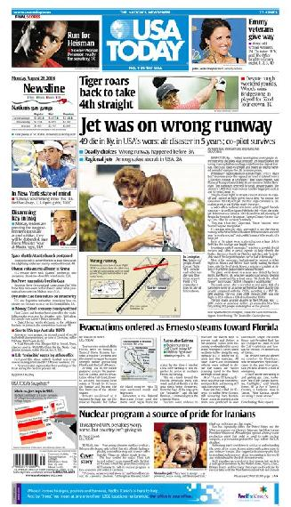08/28/2006 Issue of USA TODAY