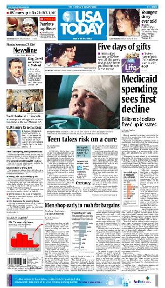 11/27/2006 Issue of USA TODAY