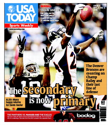 11/29/2006 Issue of Sports Weekly MAIN
