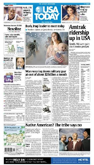 11/29/2006 Issue of USA TODAY