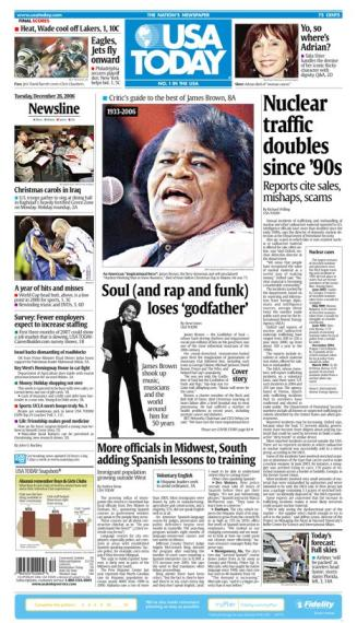 12/26/2006 Issue of USA TODAY