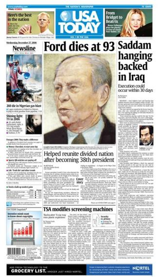 12/27/2006 Issue of USA TODAY