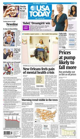 1/16/2007 Issue of USA TODAY