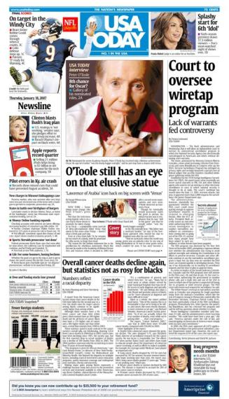 1/18/2007 Issue of USA TODAY
