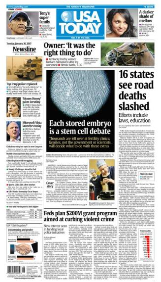 1/30/2007 Issue of USA TODAY