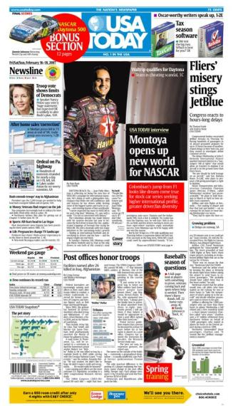 2/16/2007 Issue of USA TODAY