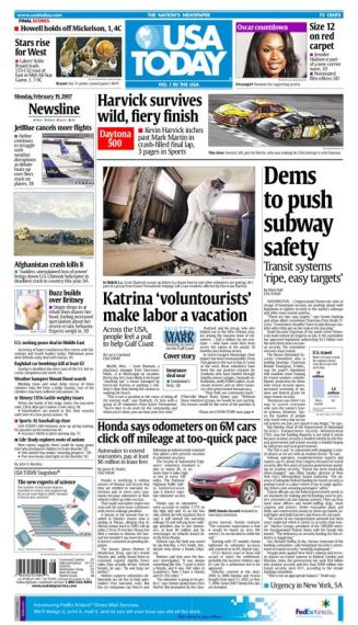 2/19/2007 Issue of USA TODAY