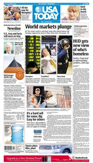 2/28/2007 Issue of USA TODAY MAIN