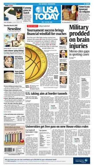 3/08/2007 Issue of USA TODAY