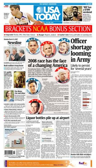 3/12/2007 Issue of USA TODAY