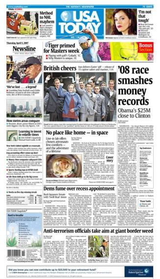 4/05/2007 Issue of USA TODAY