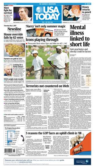 5/03/2007 Issue of USA TODAY