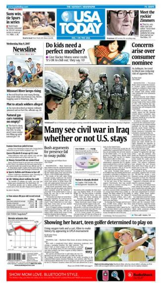 5/09/2007 Issue of USA TODAY
