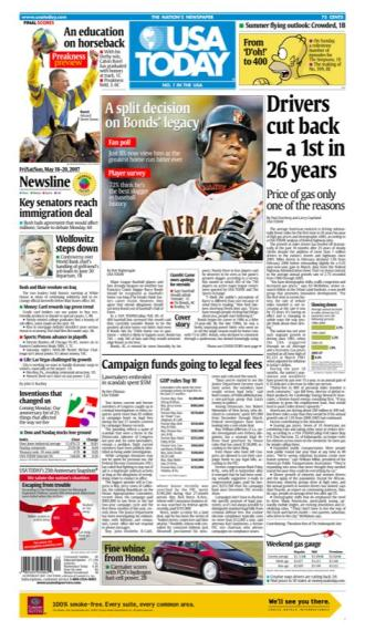 5/18/2007 Issue of USA TODAY