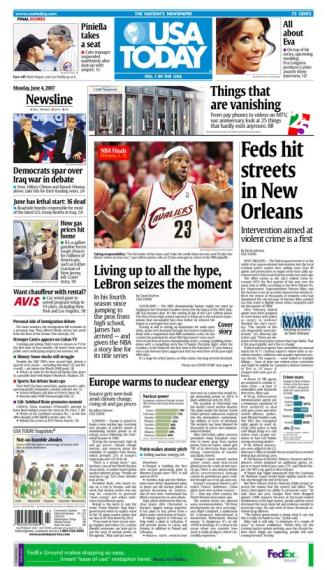 6/04/2007 Issue of USA TODAY MAIN