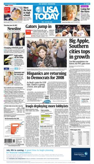 6/28/2007 Issue of USA TODAY