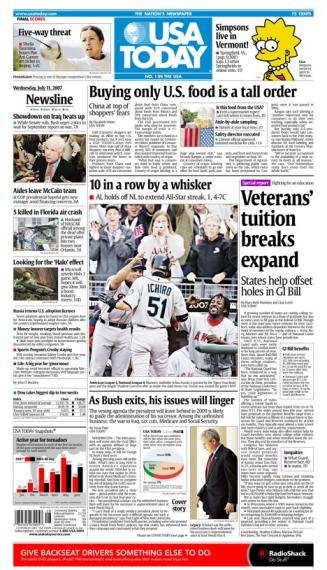 7/11/2007 Issue of USA TODAY